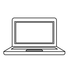 black silhouette of laptop computer vector image vector image