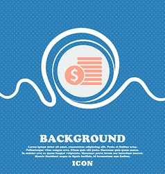 Buyer menu icon sign blue and white abstract vector