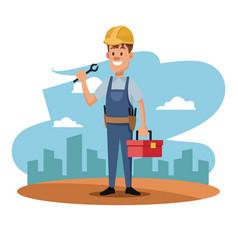 character man worker employee construction vector image