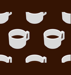 Coffee cup with espresso seamless pattern vector