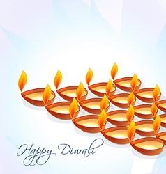 Diwali diya backg vector