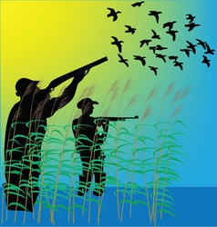 Duck hunters vector image