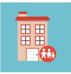 family home design vector image