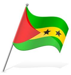 Flag of sao tome principe vector
