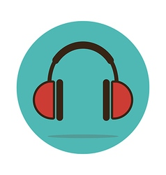 Headphone icon musical sign vector