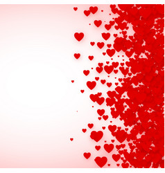 heart confetti frame for banner st valentines day vector image vector image