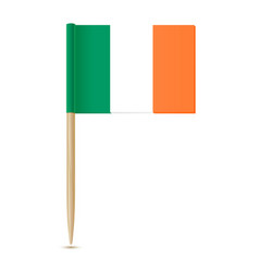 Ireland flag toothpick 10eps vector