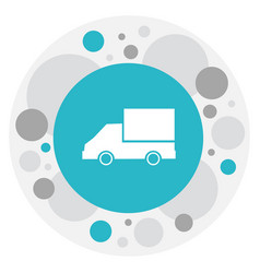 Of complex symbol on lorry vector