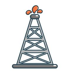 oil rig icon cartoon style vector image