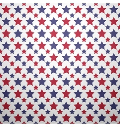 Patriotic red white and blue geometric seamless vector image vector image