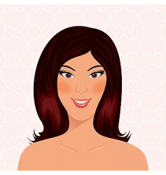 portrait beautiful smiling girl isolated vector image vector image