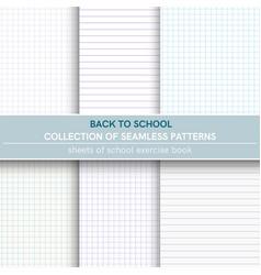 Seamless patterns of sheet of notebook vector