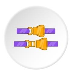 Seat belt icon cartoon style vector