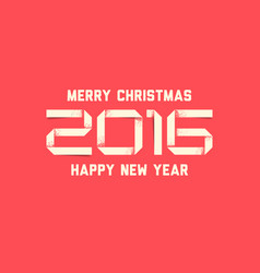 Simple happy new year card 2016 vector