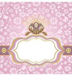 Spring gentle floral easter frame vector image vector image