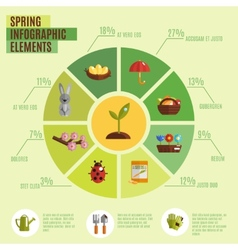 Spring Infographics Set vector image