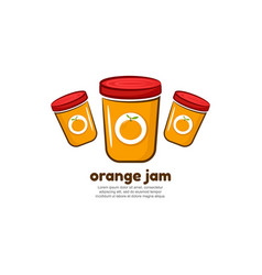 Template logo for orange jam vector