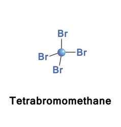 Tetrabromomethane cbr4 carbon bromide vector