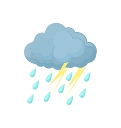 Thunderstorm cloud icon cartoon style vector