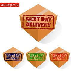 Delivery box vector