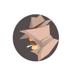 disguised detective character avatar vector image