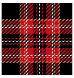 Royal black tartan design vector