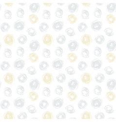 Hand drawn seamless texture with gold dots vector image