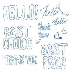 Hand drawn best price best chance signs vector