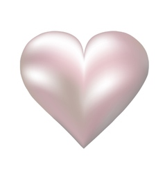 pearl shaped heart vector image