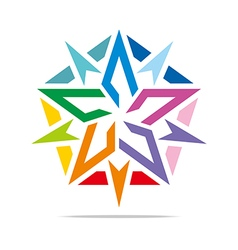 Abstract logo star symbol pentagon design vector