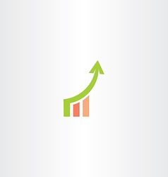 Growth chart icon design vector