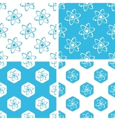 Atom patterns set vector