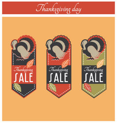 Thanksgiving sale banner vector
