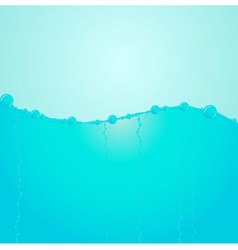 Blue water levels vector