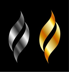 Design element in gold and silver vector