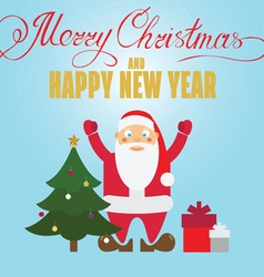 Christmas poster design with santa claus christmas vector