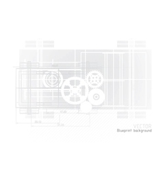 Technology blueprint abstract design vector