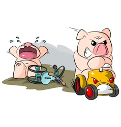 Potbelly piggies road hog vector