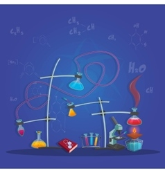 Chemical experimental poster vector