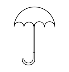 Umbrella icon outline style vector