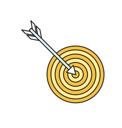Arrow with target icon vector