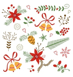 Beautiful christmas and new year decorative vector