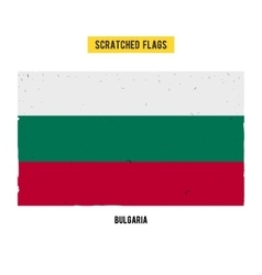 Bulgarian grunge flag with little scratches on vector