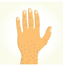 Cartoon hand vector image