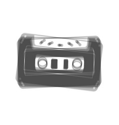 Cassette icon audio tape sign gray icon vector