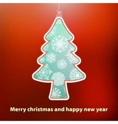 Christmas card with tree EPS8 vector image vector image