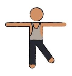 Drawing sportman artistic gymnastics vector