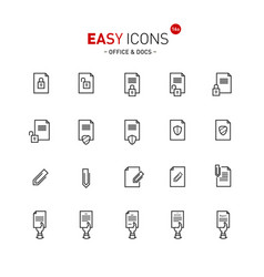 Easy icons 16a docs vector