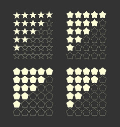 five star rating set vector image