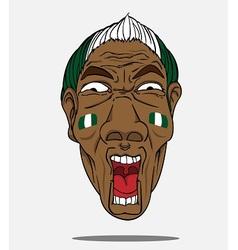 Football fan from nigeria vector